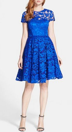 Bright blue fit & flare by Ted Baker London