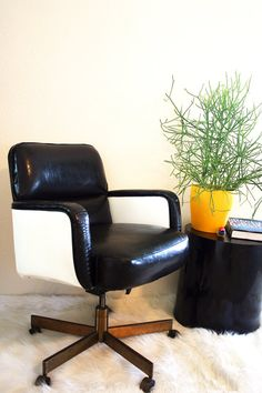1960's Mod Mad Men Secretary Office Chair. $350.00, via Etsy.