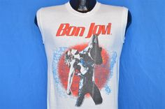 vtg #80s bon jovi slippery when wet 1217221 fans can't be wrong t-shirt small s from $139.99