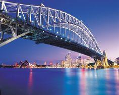 Sydney harbour bridge, Sydney, Australia was built in Sydney Harbour Bridge, Harbor Bridge, Sydney City, Beautiful Places To Visit, Oh The Places You'll Go, Dream Vacations, Vacation Spots, Melbourne, Brisbane