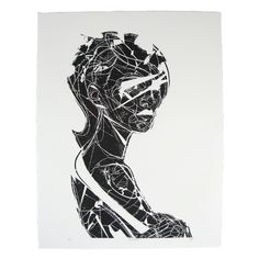 "Jason Thielke ""Fracture"" Block Print available at shop.madelife.com  #art #print #jasonthielke"