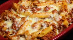 Pork Recipes A tasty variation on lasagne, using pork mince and pasta shapes… Rigatoni Al Horno, Ziti Al Horno, Baked Rigatoni, Baked Mostaccioli, Epicure Recipes, Baked Pasta Recipes, Pork Recipes, Italian Recipes, Cooking Recipes