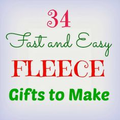 Sewing Gifts Crafts a la mode : 34 Fast and Easy Fleece Gifts to Make Fleece Crafts, Fleece Projects, Fabric Crafts, Sewing Crafts, Sewing Projects, Crochet Projects, Serger Projects, Easy Projects, Project Ideas