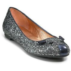 Marc Jacobs glitter mouse flat in grey