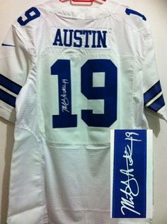 Nike Cowboys  19 Miles Austin White Men s Embroidered NFL Elite Autographed  Jersey! Only  25.00USD e13b81708