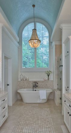 Do you have a small Victorian bathroom which you're looking to redesign or makeover? Although narrow in width, the light and elegance in this room is inspiring #Victorianbathrooms #smallbathrooms #bathroomsideas #traditionalbathrooms #interiors #style #ideas