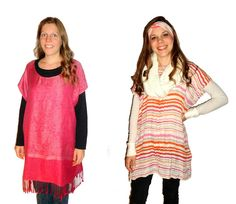Loose 'n' flowy tunic tops from scarves