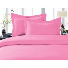 Elegant Comfort Luxurious Wrinkle-free and Fade-resistant Duvet Cover Set (Twin/Twin Xl - Light Pink) Light Pink Duvet Cover, Duvet Cover Sets, Luxury Duvet Covers, Luxury Bedding, Modern Bedding, Purple Bedding, California King Bedding, Buy Bed, Closet Bedroom