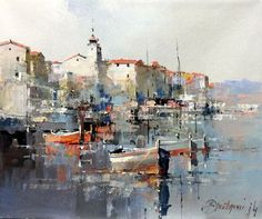 Branko Dimitrijevic, Rovinj, Croatian Coast, Oil on Canvas, 25x30cm