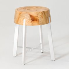Drop Stool White 19
