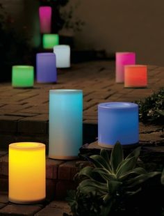Outdoor Flameless Candles Alluring Outdoor Led Candles The Timer Feature Lets You Control When The Decorating Design