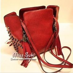 Freeshipping dropshipping best selling vintage punk skull rivet tassel involucres shoulder bag handbag women's handbag