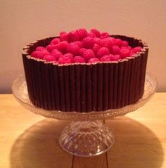 Chocolate ganache and raspberry loveliness.