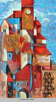 La Vielle ville (the old town) Ira Tsantekidou - Cities Illustration Art, Illustrations, Cindy Sherman, Greek Art, Classical Art, Naive Art, Wall Art Designs, Sculpture Art, Wall Sculptures