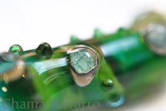 Lampwork glass pendant. Colgante de cristal de Murano #handmade #lampwork #muranoglass #chamanavarro #cristaldemurano