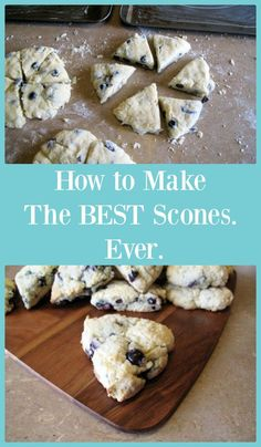 Scones: 1 cup of sour cream 1 tsp baking soda 4 cups of flour 1 cup of white sugar 1 cup of blueberries or raisins, or whatever fruit you want. 1 cup of margarine or butter 1 egg 2 tsp baking powder 1 tsp salt