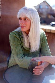Angela Tingle //silver grey hair
