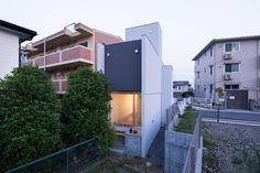The project is for the house owned by a young couple and is planned at the unique site 4 meters wide and 35 meters deep.The geometrical restriction of the si...