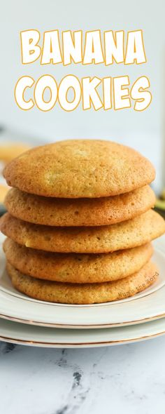 Banana Cookies are the perfect Breakfast, Snack or Dessert! It's my favorite Banana Bread Recipe turned into a cookie! Yum! Ready in 30 Minutes and oh so tasty! #bananacookies #bananabreadcookies #bananacookierecipe #bananabreakfastcookies #easybananacookies #recipe #numstheword #breakfastcookie Easy Cookie Recipes, Best Dessert Recipes, Easy Desserts, Sweet Recipes, Holiday Recipes, Delicious Desserts, Breakfast Recipes, Banana Bread Cookies, Cookies Et Biscuits