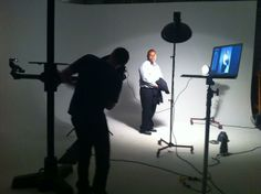 me at my photo shoot for profile in Esquire Magazine