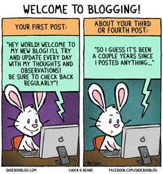 Welcome to blogging! #comic