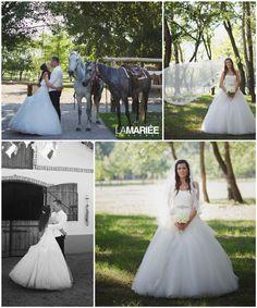 Real bride by La Mariée Budapest bridal dress by Pronovias 2015 Budapest, Wedding Gowns, Wedding Day, Ballet Skirt, Bride, Fashion, Rosa Clara, Weddings, Homecoming Dresses Straps