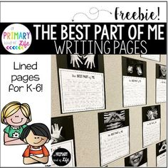 """Our """"Best Part of Me"""" writing is a wonderful Open House project you can do with your class. It is perfect for practicing opinion writing, and it is a perennial favorite among parents! This FREEBIE includes the writing pages your students can use for their Paragraph Writing, Narrative Writing, Opinion Writing, Persuasive Writing, Writing Workshop, Descriptive Writing Activities, Writing Rubrics, Kindergarten Writing, Teaching Writing"""