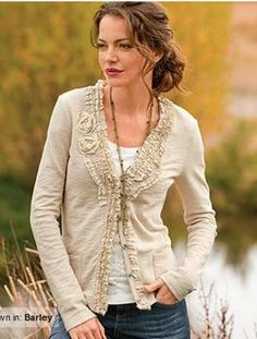 Dear Stitch Fix stylist, I have a couple long open front cardigans that I like, but this neutral colored cardigan with a hint of feminine detail and slightly shorter length would make a great staple for my wardrobe.  Thanks