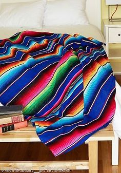 This is definitely a home staple. Perfect in either bedroom or living room. Envelop yourself in the kaleidoscopic colors that form this rainbow-streaked blanket by Karma Living! Cool Room Decor, Bedroom Decor, Retro Home Decor, Vintage Decor, Retro Vintage, Textiles, Modcloth, Home Gifts, Decorative Accessories