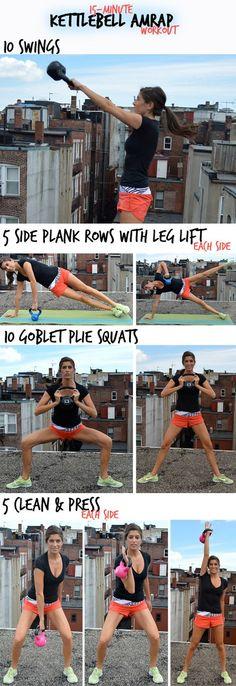 15-Minute Kettlebell AMRAP Workout