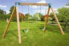 diy swing set frame | hang the swing assemblies on the eye bolts ...