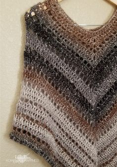 #desertlife Crochet Poncho Pattern | Hooked on Homemade Happiness