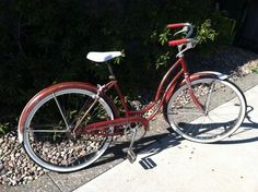 1957 Schwinn Tiger - rescued this bike from an antique store and fixed her up. Her name is Scarlett.