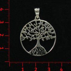 Dije de plata, árbol, arbol,  tree Luz de Luna - Catalogo de joyería