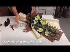 Flowers Tied and Wrapped with two colors tissue paper #wrapflowers - YouTube