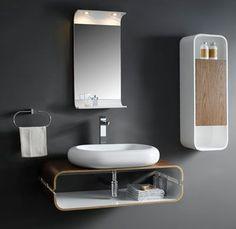Bathroom Pedestal Tempered Black Glass Vessel Sink & Vanity + ...