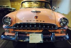 Front view of #Desoto Diplomat Convertible of 1954, displayed at the #museum!
