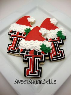 Texas Tech Cookies I know I don't normally pin Tech things but these are so cute