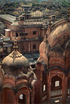 Hawa Mahal (Palace of the Winds), Jaipur, India,...