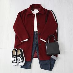 Korean Fashion Trends you can Steal – Designer Fashion Tips Korean Outfits, Mode Outfits, Winter Outfits, Casual Outfits, Fashion Outfits, Womens Fashion, Fashion Trends, Fashion Sets, Ulzzang Fashion