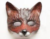 The Dark Fox Mask Fancy Dress Animal Mask Papier Mache/Paper Mache Festival Mask…