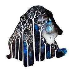 Beautiful watercolor illustration: In The Woods by Furry Little Peach (progress shot) Art And Illustration, Illustrations, Inspiration Art, Art Inspo, Art D'ours, Arte Sketchbook, Bear Art, Art Design, Oeuvre D'art