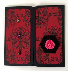 Rose Sexy Corset OOAK any occasion card. Made by Otherworldly Cards an Etsy shop.