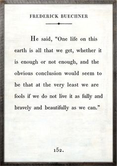 @rosenberryrooms is offering $20 OFF your purchase! Share the news and save! (*Minimum purchase required.) Frederick Buechner Quote Vintage Framed Art Print #rosenberryrooms