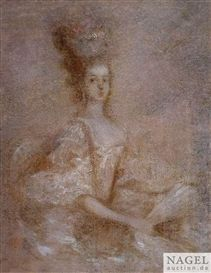Presumed to be Marie Antoinette, late 18th century, French school