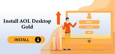 Go through the guide to know the right procedure to Install AOL Desktop Gold on your system. Aol Email, Email Service Provider, Desktop, Gold, Gossip, Yellow
