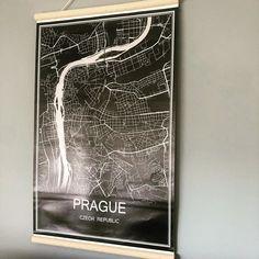 """Sandra on Instagram: """"▫️une carte de Prague car elle fait partie de nos origines —————————- #decosuisse #decointerieur #decoaddict #homstyle #poster #prague…"""" Deco Addict, Cover, Instagram, Prague Map"""