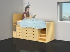 bed + desk combination Floating Nightstand, Desk, Bedroom, Table, Furniture, Home Decor, Floating Headboard, Desktop, Decoration Home