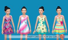 Happy Friday! Have a nice weekend! Here's some fun stuff for your Sim kiddos. Sim Kids are my favorite life stage in TS4. I was really disappointed to see no new CAS items for Sim kids in the new Luxury Party Stuff Pack (I hope that changes), so I...