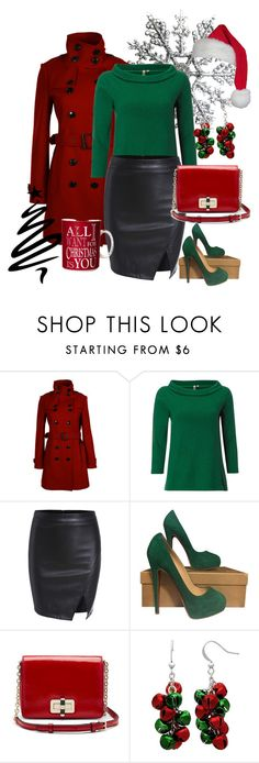 """""""Christmas Chic!"""" by brandonandrews500 ❤ liked on Polyvore featuring Burberry, White Stuff, Christian Louboutin, Diane Von Furstenberg and Kim Rogers"""